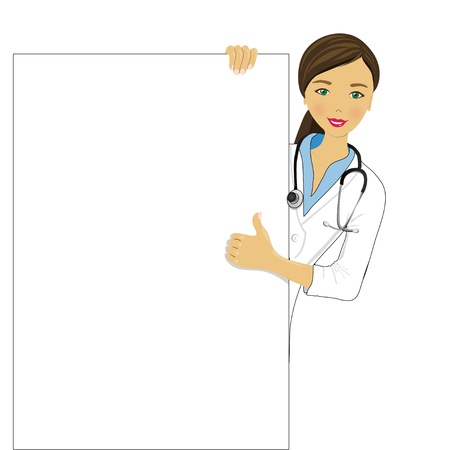 medical clipboard: doctor showing clipboard for text or design