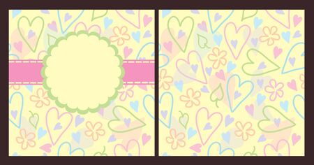 blank for scrapbook Vector