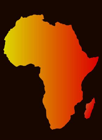 map of africa: background with Africa map silhouette,