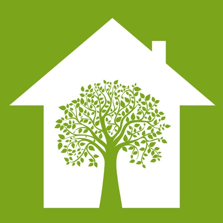 Koncepcja że Twój dom przyjazny dla środowiska,