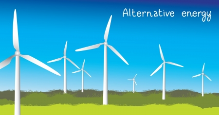 Power Generating Windmills, Vector