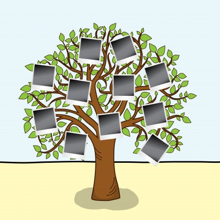 grass family: Family album   Tree with frames for your photos