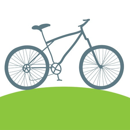 bicycling: Concept of healthy living and environmentally friendly transport