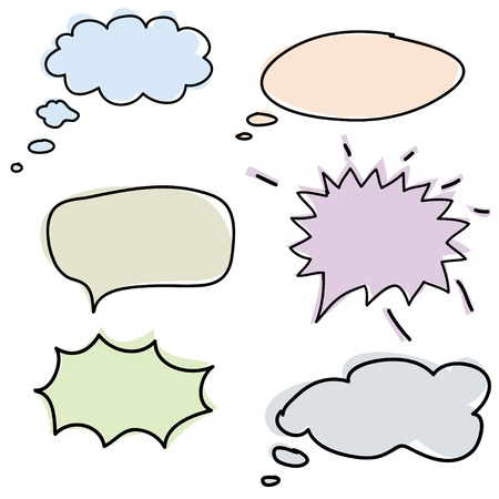clouds for the speech, the vector image Stock Vector - 14464697