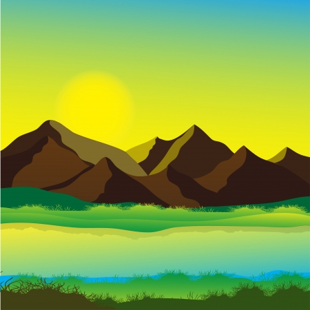 Mountain landscape  Stock Vector - 14536937