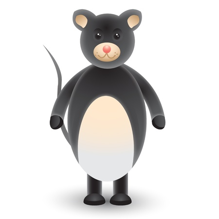 gnawer: Cute cartoon mouse  Illustration