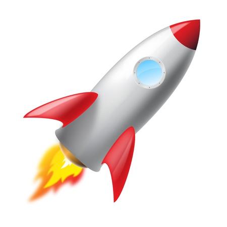launching: Flying metal rocket