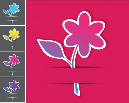 set of floral cards  Vector
