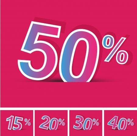 cut away: Sale percents  Vector