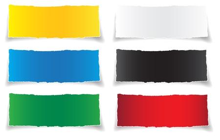Set torn paper banner,  vector for design Stock Vector - 14737876