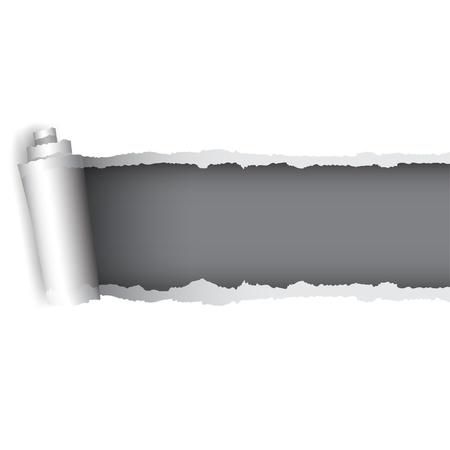 paper curl: Antecedentes para el dise�o del papel rasgado Vectores