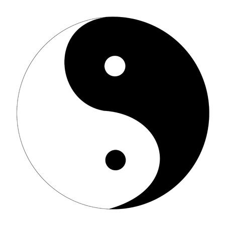 yin y yan: Ying yang símbolo de la armonía, vector