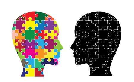 right ideas: Esta imagen ilustra el uso de los hemisferios cerebrales Vectores