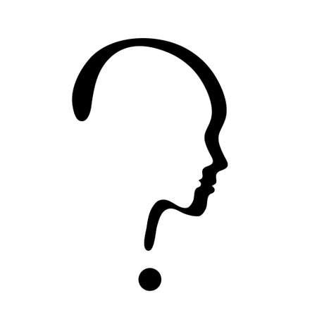 signo de interrogacion: s�mbolo de vector de signo de interrogaci�n sobre fondo blanco