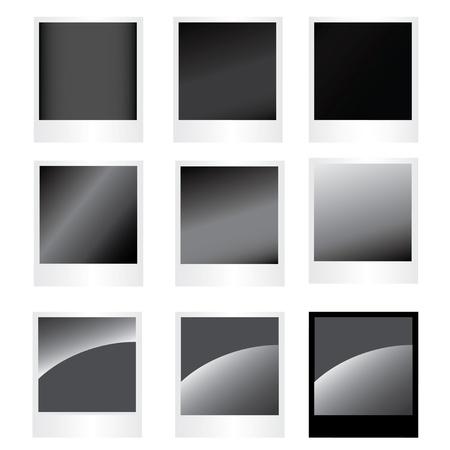 Set photo frame, vector image for design