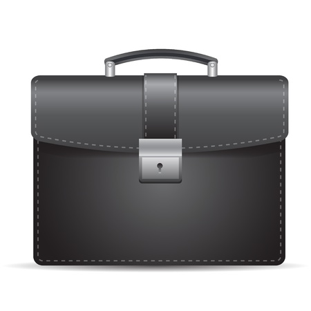 brief case: Black stylish business case for confident people Illustration