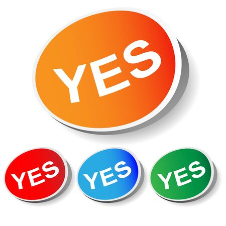 set of labels with a  yes , vector Stock Vector - 14737883