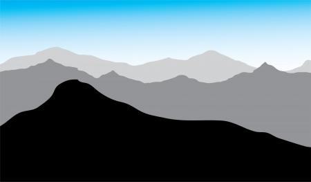 vista de las montañas, el dibujo, se puede utilizar el fondo Ilustración de vector
