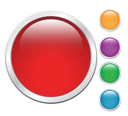 glossy buttons in different colors for the design Stock Photo - 14813170