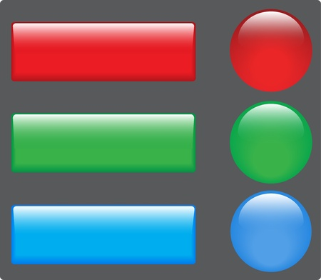 Web color buttons image for design Stock Vector - 14813182