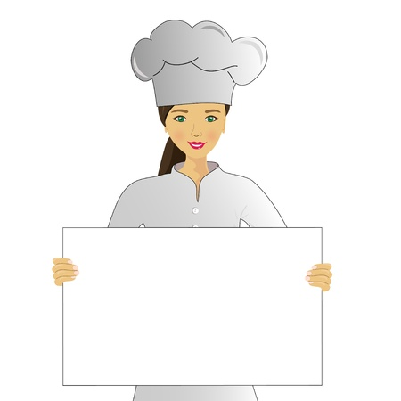Cook with the menu, image for text Vector