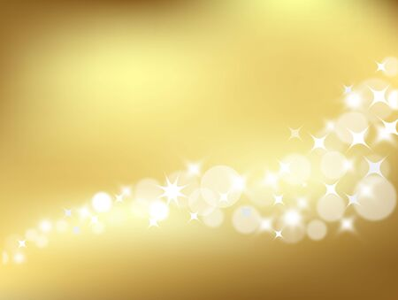 light golden abstract background in vector for design Vector