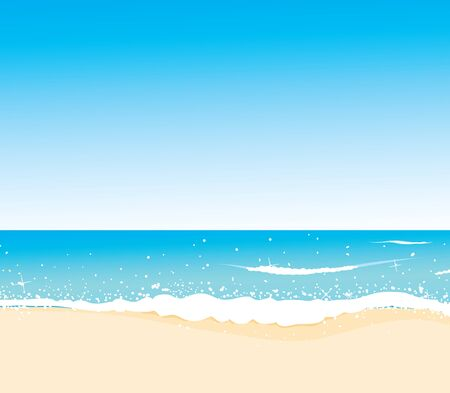 wild coast, azure beach, vector for design Stock Vector - 14892107