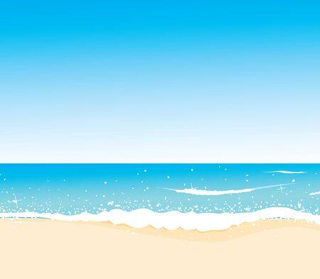 wild coast, azure beach, vector for design Stock Vector - 14892107