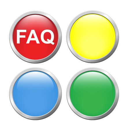 The  faq  and a button for your sign Vector