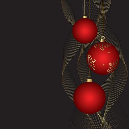 Beautiful Christmas background with free space, vector Vector