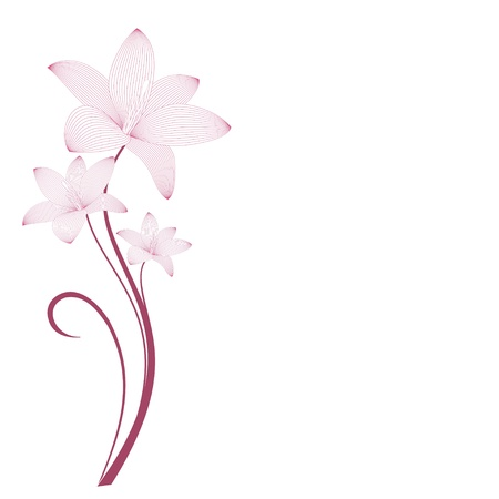Stylized flowers gentle pink  Background for design Vettoriali