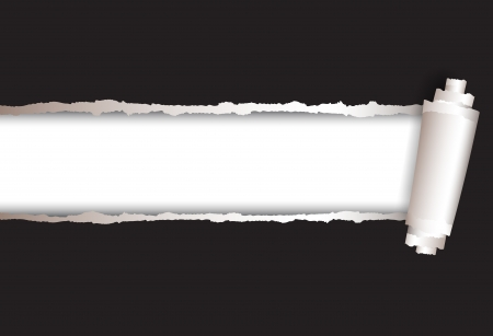 gescheurd papier: vector achtergrond gescheurd papier en kopieer ruimte voorbeeldtekst