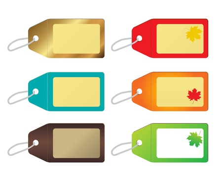 blank price tags Stock Vector - 15345769