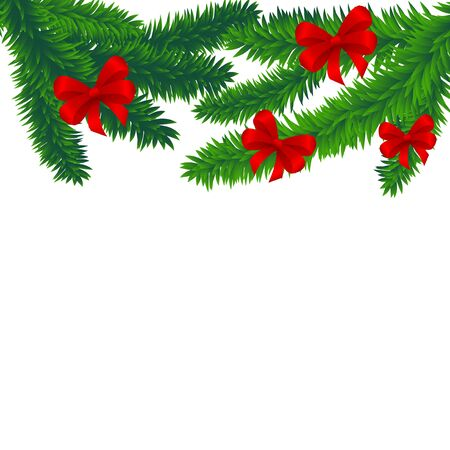 Spruce branches Stock Vector - 15614850