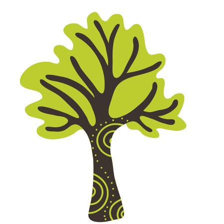 square root: stylized tree Illustration