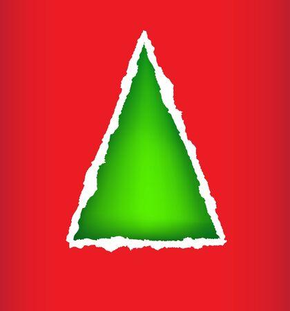 Card christmas tree Stock Vector - 15809117