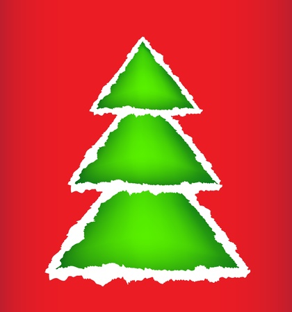 Card christmas tree Stock Vector - 15809118