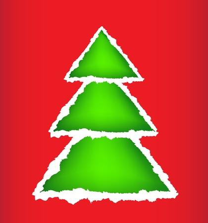 Card christmas tree Stock Vector - 15809118