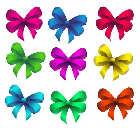 green bow: Set bow