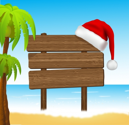tropical christmas: happy new year in paradise Illustration
