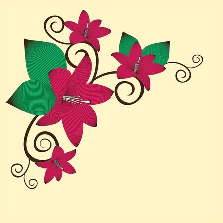 sketch: Flower background