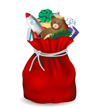 Santa Claus bag Vector