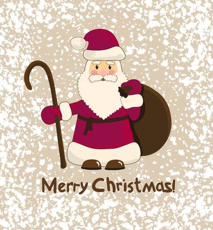 x mas background: Merry Christmas card,winter illustration for design Illustration