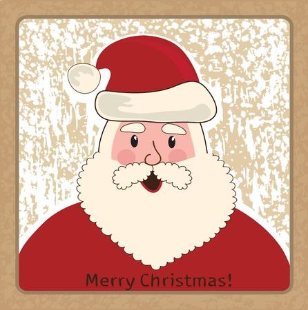 Christmas card illustration funny Santa Claus Vector