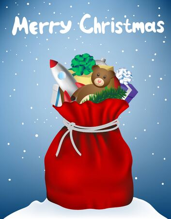 Christmas bag Santa Claus isolated, vector image Stock Vector - 16846158