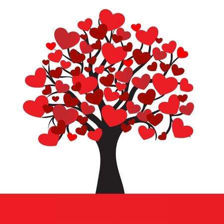 abstracte harten boom, voor Valentine Day