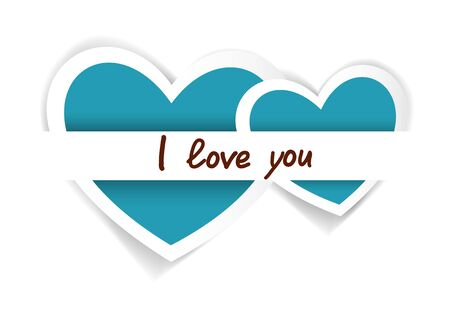 Heart from paper Valentines day card background  Vector