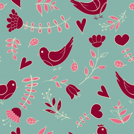 floral seamless pattern  illustration for design web, fabric Vector