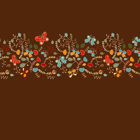 Seamless background pattern, butterfly and hearts