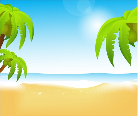 Summer background  illustration for your  design   Beach Vector